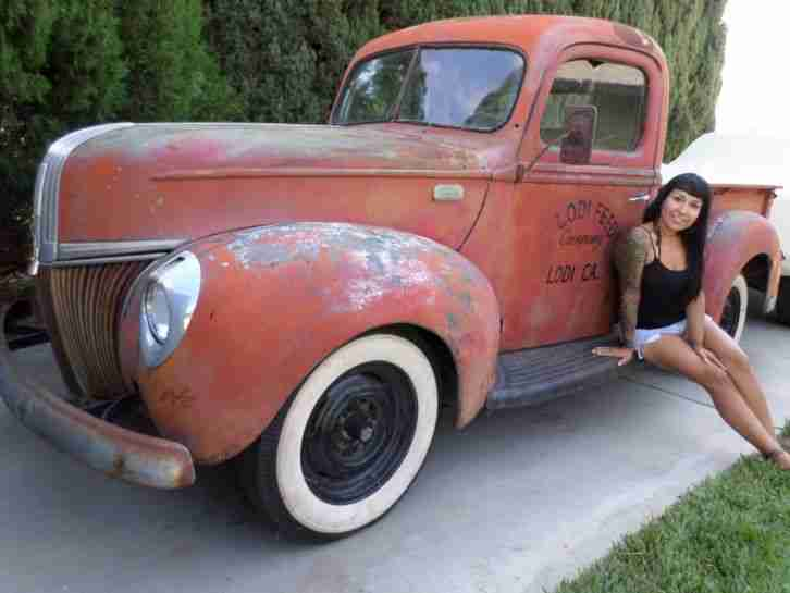 1941 Ford Pick Up, V8, Originale California Patina,
