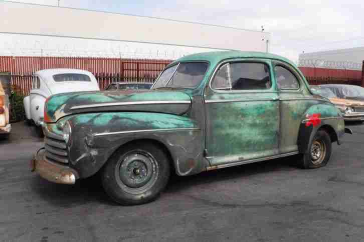 1946 Ford Coupe V8 orig. 60's Hot Rod, California Patina, ! Nur 6% Zoll