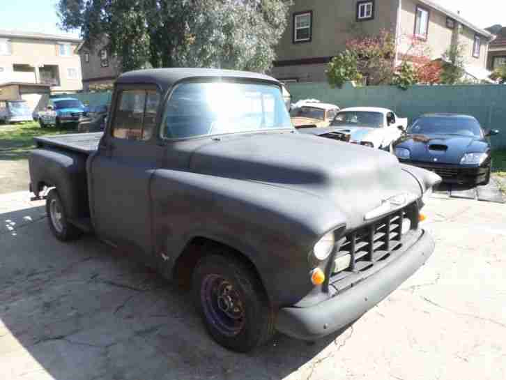 1955 Chevrolet Pick Up, V8 Automatic, California Wagen. Gutes Blech.