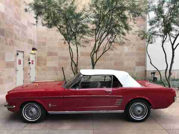 1966 Ford Mustang Cabrio 6 cyliner incl.shipping to Rotterdam