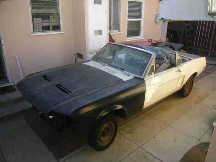 1968 mustang cabrio zum restaurieren die besten angebote amerikanischen autos. Black Bedroom Furniture Sets. Home Design Ideas