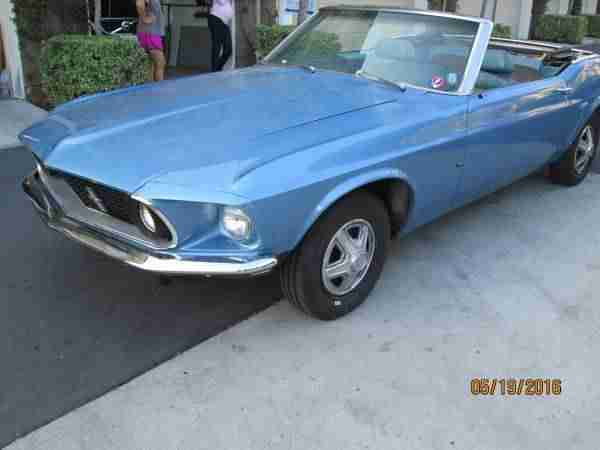 1969 Ford Mustang Cabrio laeuft top - easy Project - incl.shipping to Rotterdam