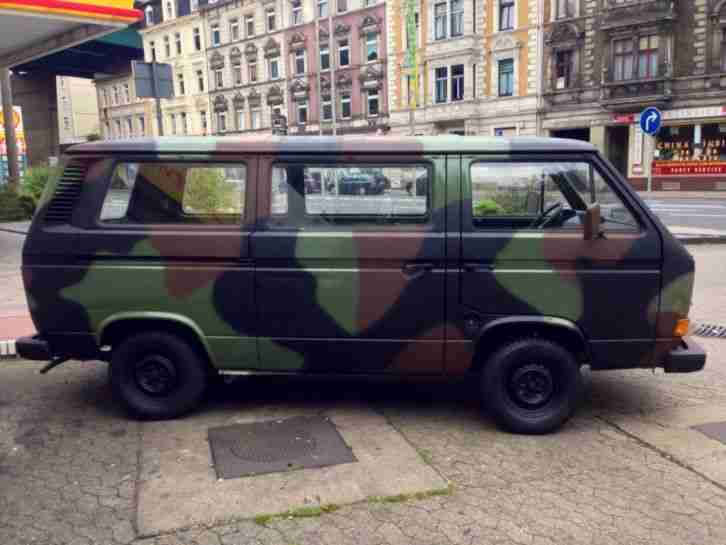 1985 vw bus t3 1 6d ex bw bundeswehr oldtimer topseller. Black Bedroom Furniture Sets. Home Design Ideas