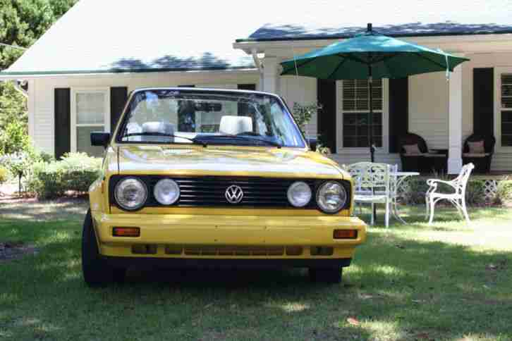 1990 VW Golf Cabriolet 38T Km Originalzustand