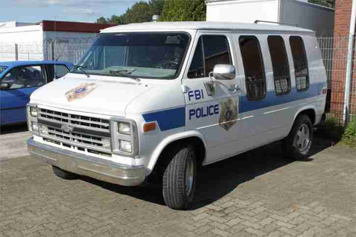 1991 CHEVY CHEVROLET G20 POLICE FBI SPORTS VAN 5, 7 LOW TOP