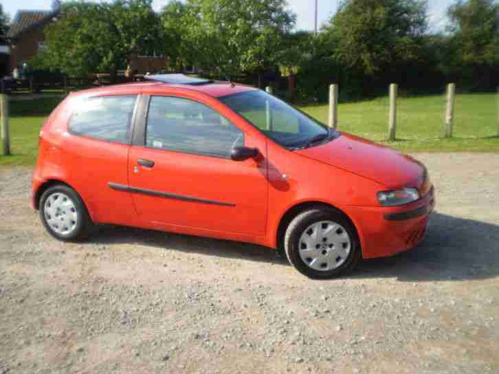 2002 02 PUNTO 1.2 ACTIVE 3 DOOR MOT AND TAXED