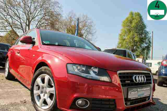 Audi A4 Avant Attraction S Line Granatrot