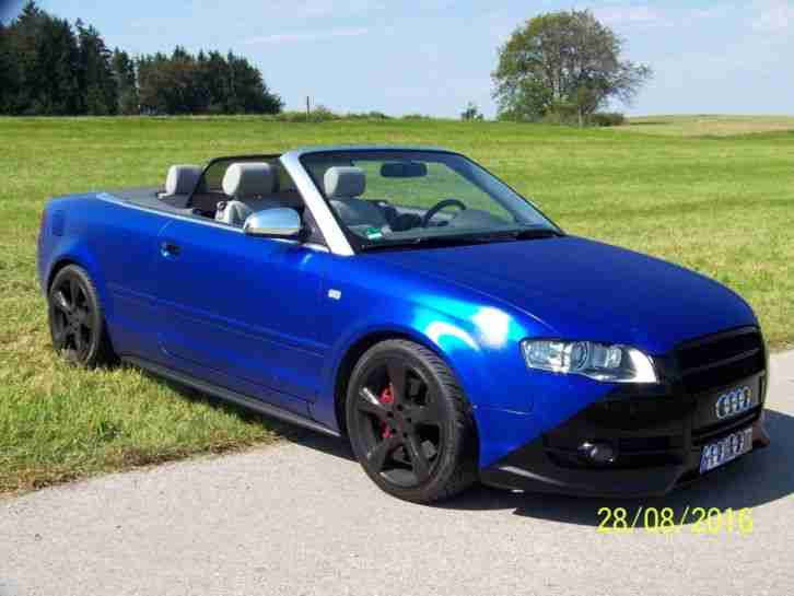 Audi A4 Cabrio, 2, 0l TFSI, Chiptuning ca.250PS, fast vollausst.Top Zustand. S LINE