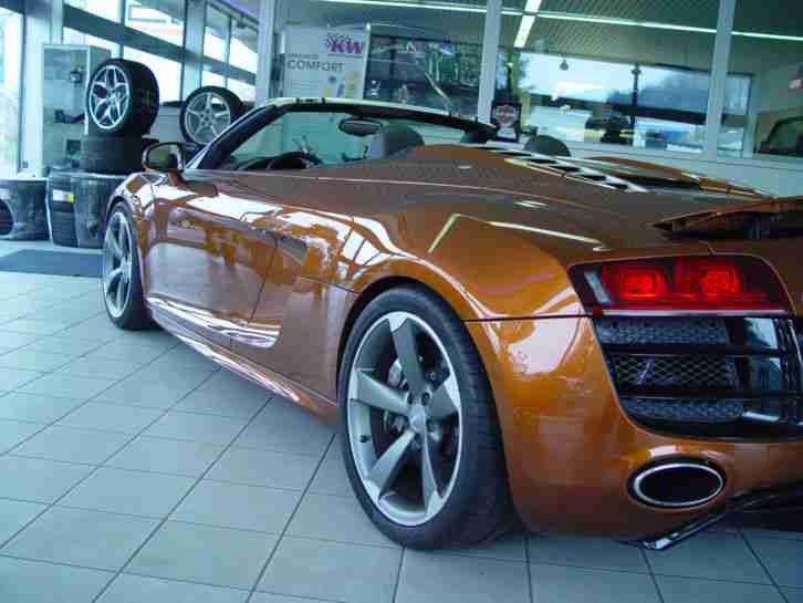 audi r8 spyder 5 2 fsi quattro 19600km tolle angebote. Black Bedroom Furniture Sets. Home Design Ideas