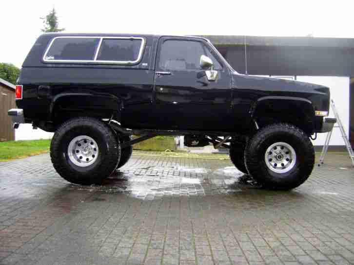 Black Monster Truck Chevy Blazer K5 Silverado Die Besten Angebote Amerikanischen Autos