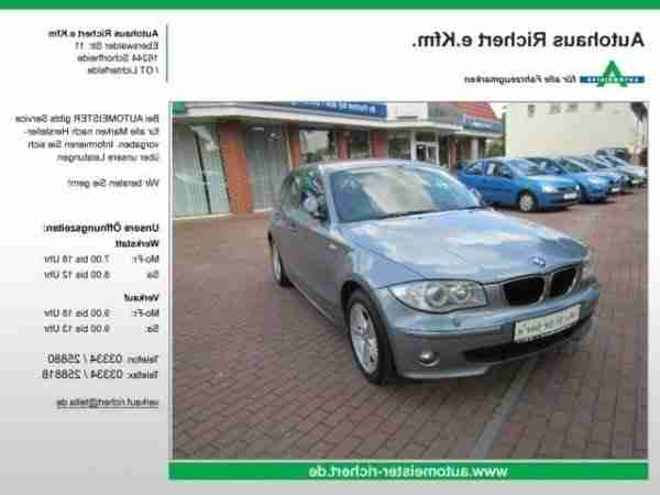 BMW 120 d DPF 5trg Climatronic Tempom PDC Xen
