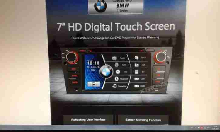 Autoratio 7 Autoradio HD Touchscreen GPS DVD Screen