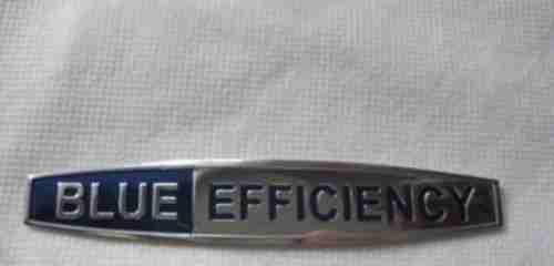 Blue Efficiency Emblem Schriftzug Mercedes Benz
