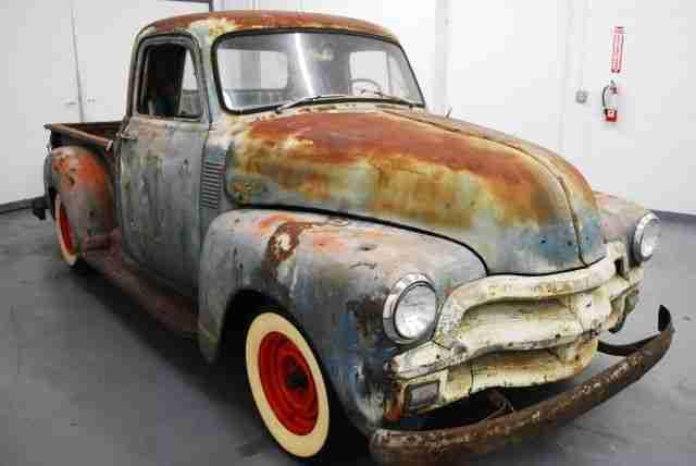 chevrolet pick up 1954 hot rod rat rod patina die besten angebote amerikanischen autos. Black Bedroom Furniture Sets. Home Design Ideas