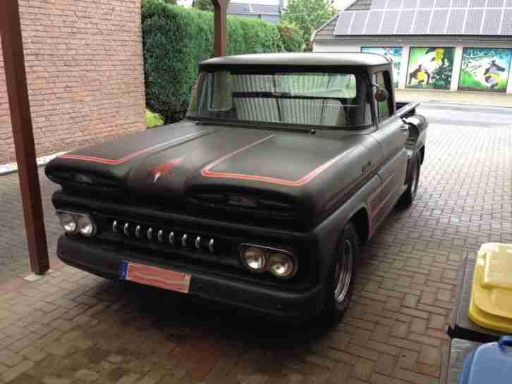 chevrolet pick up 1961 apache chevy hot rod v8 die besten angebote amerikanischen autos. Black Bedroom Furniture Sets. Home Design Ideas