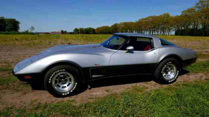 corvette c3 1978 silver anniversary 37500 die besten. Black Bedroom Furniture Sets. Home Design Ideas