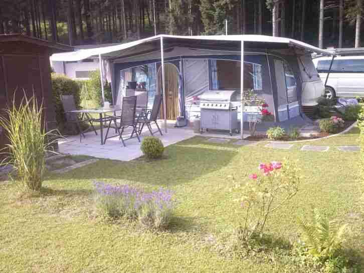dauerstellplatz dauercamping wohnwagen wohnwagen. Black Bedroom Furniture Sets. Home Design Ideas