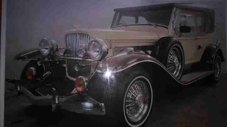 duesenberg 1935 nachbau replika v8 cabrio mit die besten angebote amerikanischen autos. Black Bedroom Furniture Sets. Home Design Ideas