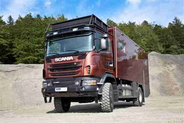 Expeditionsmobil Reisemobil Scania Allrad wie Action