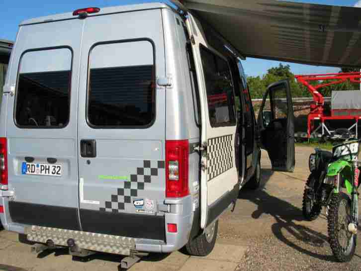 fiat ducato maxi 2 8 jtd rennlaster camper pkw. Black Bedroom Furniture Sets. Home Design Ideas