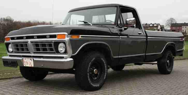 ford f 150 truck pickup 460 cui 7 5 l v8 1977 die besten angebote amerikanischen autos. Black Bedroom Furniture Sets. Home Design Ideas