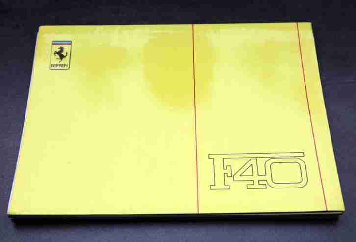 F40 Technisches Handbuch, Technical Manual,