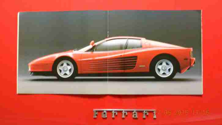 ferrari testarossa katalog 1984 signiert von tolle. Black Bedroom Furniture Sets. Home Design Ideas