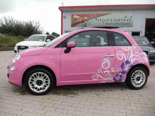 Fiat 500 12 Barbie Original Sondermod Pink Skydome