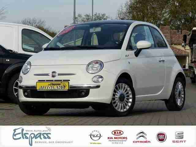fiat 500 1 2 lounge klima mp3 usb panoramadach hei er verkauf der marke fiat. Black Bedroom Furniture Sets. Home Design Ideas