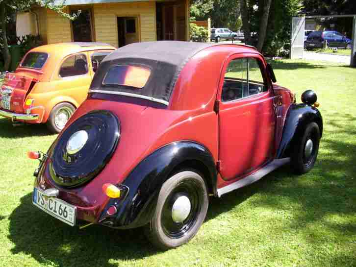 fiat 500a topolino baujahr 1941 topseller oldtimer car. Black Bedroom Furniture Sets. Home Design Ideas