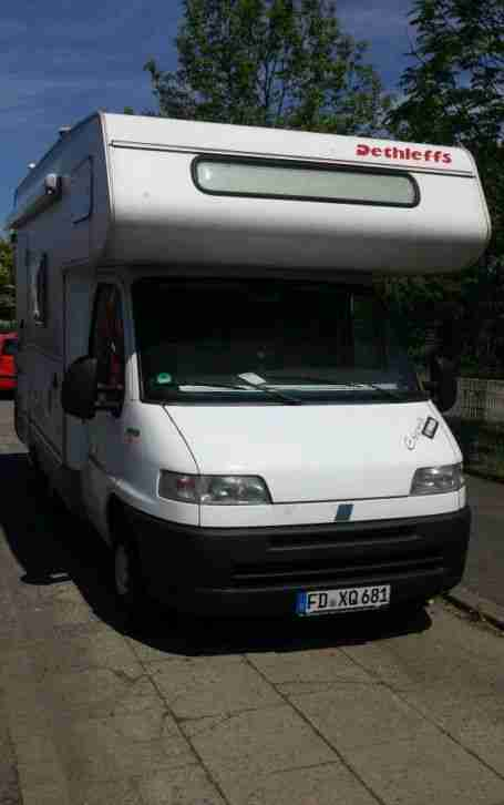 fiat ducato esprit wohnmobil a5250 dethleffs wohnwagen wohnmobile. Black Bedroom Furniture Sets. Home Design Ideas