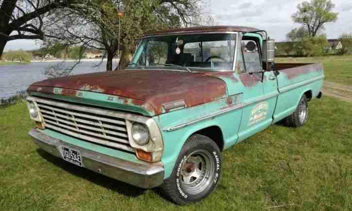 ford f100 pickup truck 100 original die besten angebote amerikanischen autos. Black Bedroom Furniture Sets. Home Design Ideas
