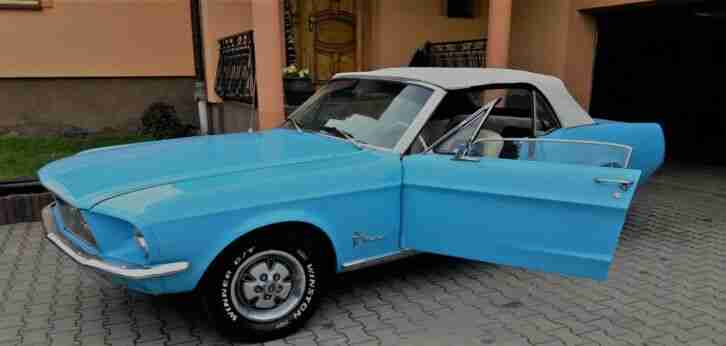 Ford Mustang Cabrio 1968 Oldtimer Seltenheit Columbine Blue