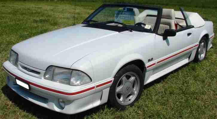 ford mustang gt v8 cabriolet 1988 mit 5 lt v8 die besten angebote amerikanischen autos. Black Bedroom Furniture Sets. Home Design Ideas