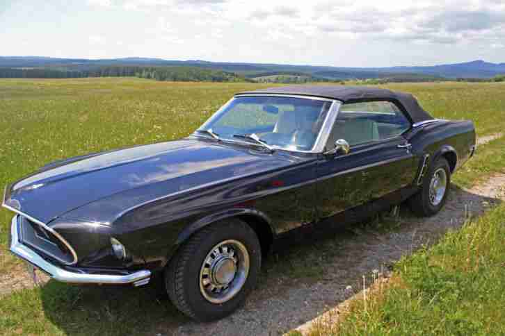 ford mustang v8 cabrio 1969 kompletter die besten angebote amerikanischen autos. Black Bedroom Furniture Sets. Home Design Ideas
