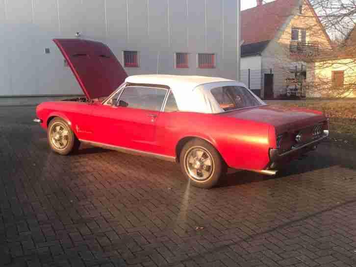 ford mustang v8 cabrio automatik 1967 die besten angebote amerikanischen autos. Black Bedroom Furniture Sets. Home Design Ideas