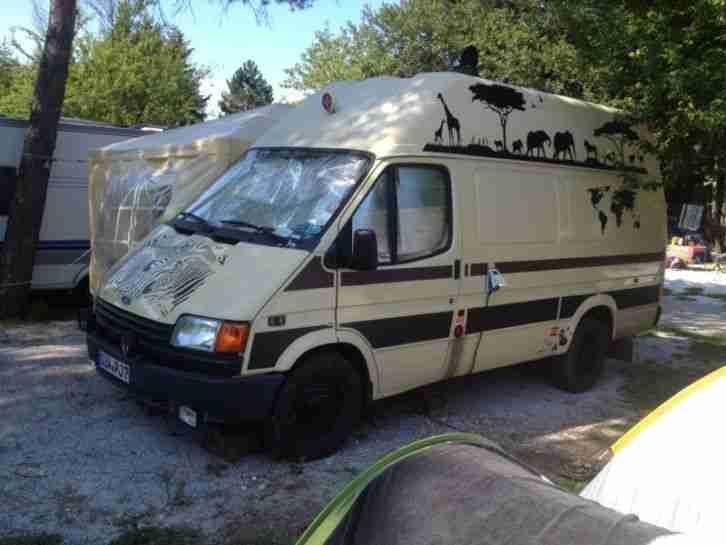 ford transit 2 5 diesel wohnmobil transporter wohnwagen wohnmobile
