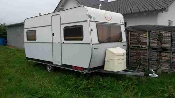 gepflegter dethleffs wohnwagen nomad wohnwagen wohnmobile. Black Bedroom Furniture Sets. Home Design Ideas