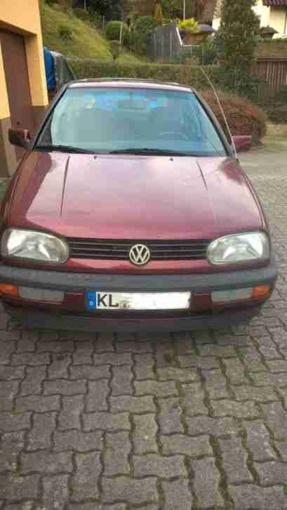 Golf 3 EUROPE EZ 03.1993, TüV 12.2018, 1, 6 Liter, 75