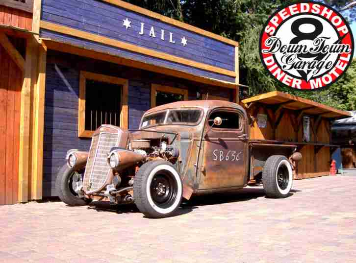hot rod pick up chevy 1939 rusty rat rod sbc die besten angebote amerikanischen autos. Black Bedroom Furniture Sets. Home Design Ideas