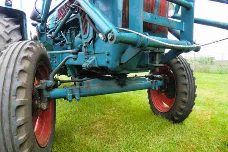 hanomag brillant 600 mit frontlader traktor. Black Bedroom Furniture Sets. Home Design Ideas