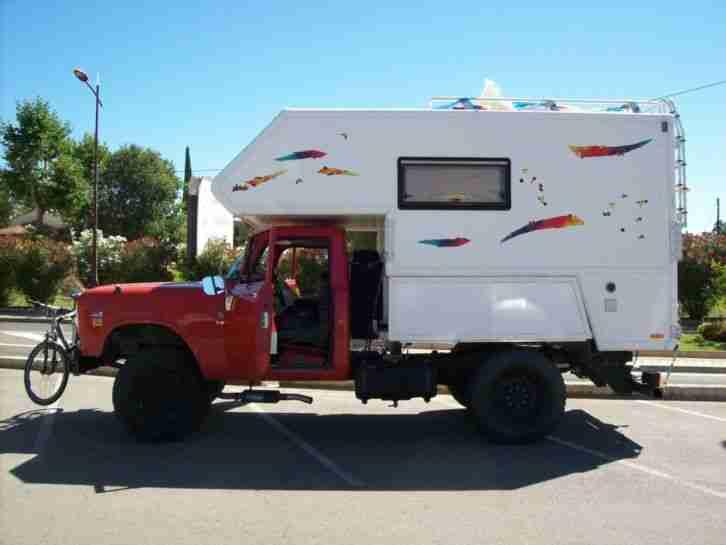 ihc pickup absetzkabine us truck flatbed camper die. Black Bedroom Furniture Sets. Home Design Ideas