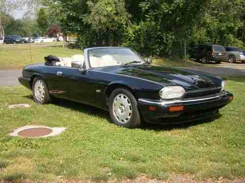 jaguar xjs cabrio 1996 schwarz 4 0l 6 cylinder tolle. Black Bedroom Furniture Sets. Home Design Ideas