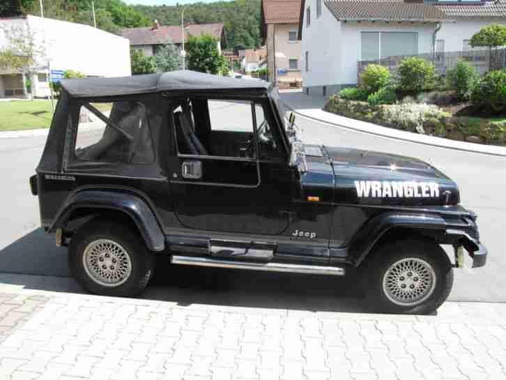 jeep wrangler 2 5 yj laredo die besten angebote amerikanischen autos. Black Bedroom Furniture Sets. Home Design Ideas
