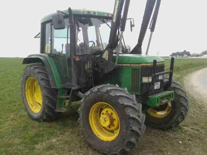 john deere 6200 schlepper traktor mit nutzfahrzeuge. Black Bedroom Furniture Sets. Home Design Ideas