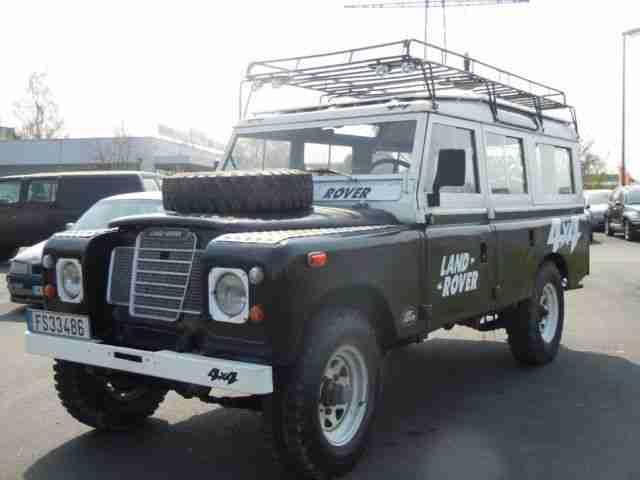 land rover serie iii typ 109 11 sitzer ahk 4x4 angebote dem auto von anderen marken. Black Bedroom Furniture Sets. Home Design Ideas