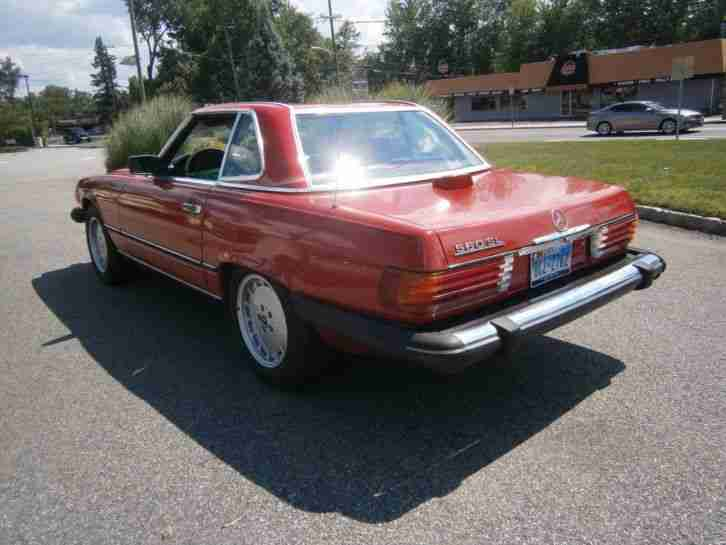 MERCEDES BENZ 1986 560SL ROT AUS TEXAS