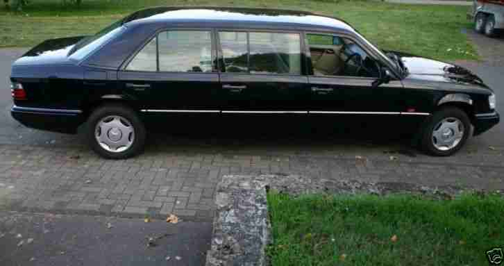 mercedes benz 220 e w 124 stretch limousine aktuelle. Black Bedroom Furniture Sets. Home Design Ideas
