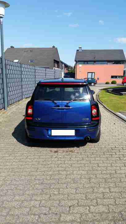 MINI COOPER CLUBMANN Lightning Blue Metallic Stoff-/ Lederkombination Ray Pacifi