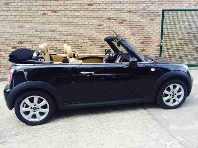 mini cooper cabrio 1 6 voll leder beige shz pdc neue. Black Bedroom Furniture Sets. Home Design Ideas